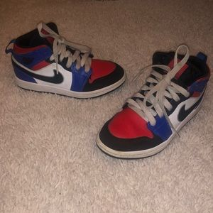 Nike Jordans dunk high size 13C red/white/blue